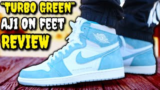 """""""TURBO GREEN"""" AIR JORDAN 1 ON-FEET REVIEW! BEFORE YOU BUY! DON'T SLEEP ON THESE!"""