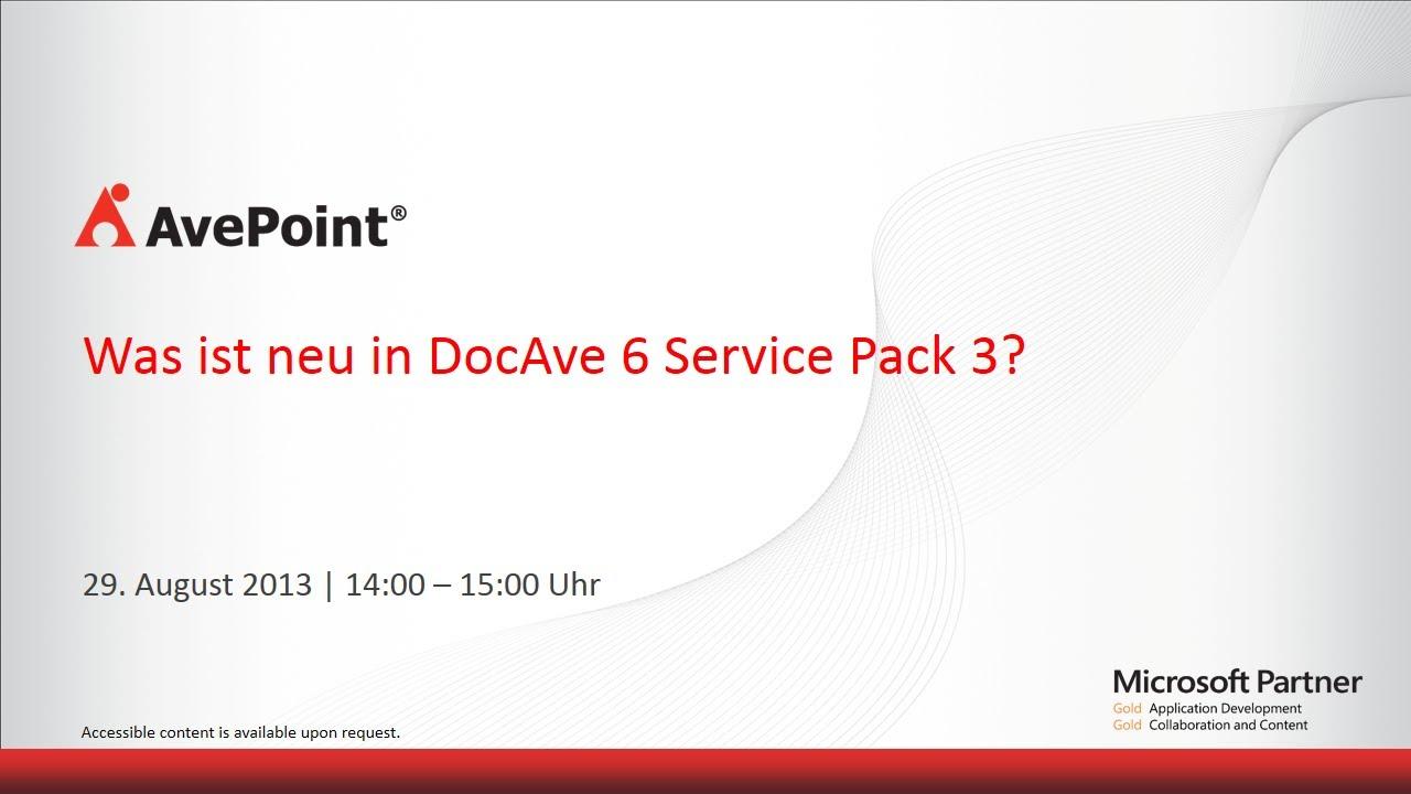 docave 6 sp3