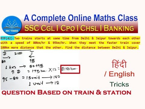 Time Speed and Distance Tricks #7 :: Question Based on Train and ...