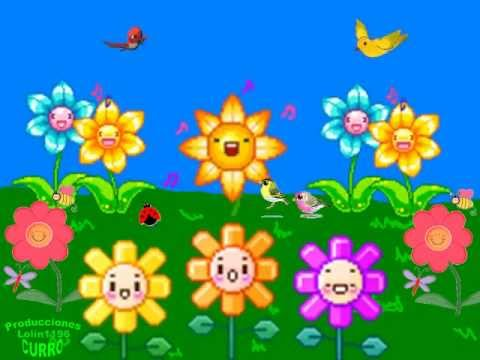 Canci n infantil somos como las flores youtube for Cancion jardin de rosas