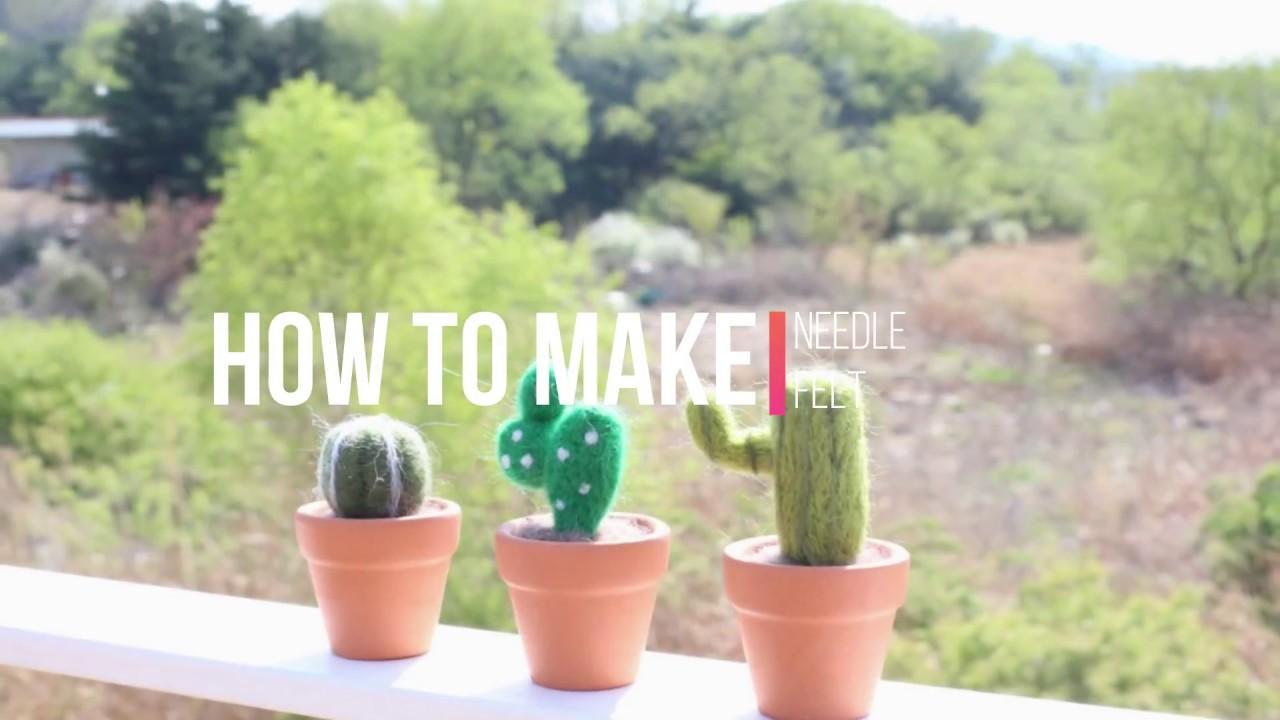 FULL TUTORIAL] How to make tiny cactus [NEEDLE FELT] - YouTube on tiny bamboo, tiny moon, tiny trees, tiny earth, tiny plants, tiny blanket, tiny island, tiny succulents, tiny terrariums, tiny tomatoes,