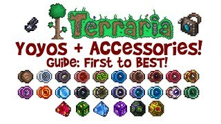 Terraria ALL/BEST Yoyo Guide + Accessories! (Build, Loadout, Yoyo Bag, Class, How to Get, 1.3)