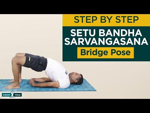 Setu Bandha Sarvangasana (Bridge Pose) Benefits, How to Do & Contraindications by Yogi Sandeep