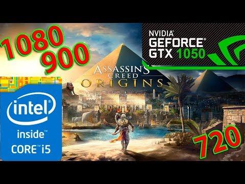 Assassin's Creed Origins I5 2500K GTX 1050 (1080,900,720p) |