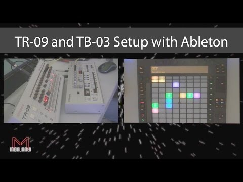 Roland TB-03 and TR-09 Setup with Ableton Live