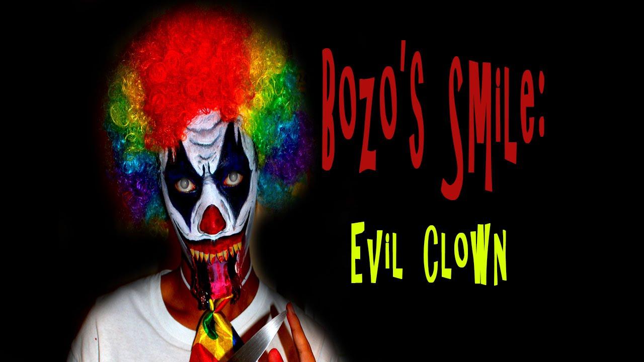 EVIL CLOWN MAKEUP TUTORIAL! | BOZO'S SMILE - YouTube