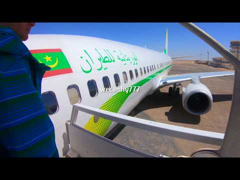 Flying Mauritania Air-Force 1 with the President!  737-800 to Nouackchott