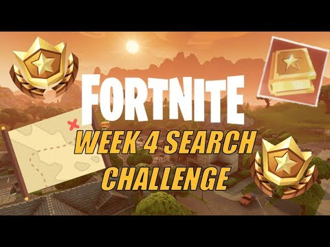 FORTNITE WEEK 4 SEARCH CHALLENGE | VEHICLE TOWER, ROCK SCULPTURE, CIRCLE OF HEDGES