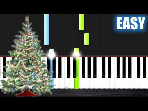 O Christmas Tree  EASY Piano Tutorial  PlutaX