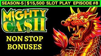 Mighty Cash Slot Machine NON STOP BONUSES - Great Session | Season-5 | EPISODE #8