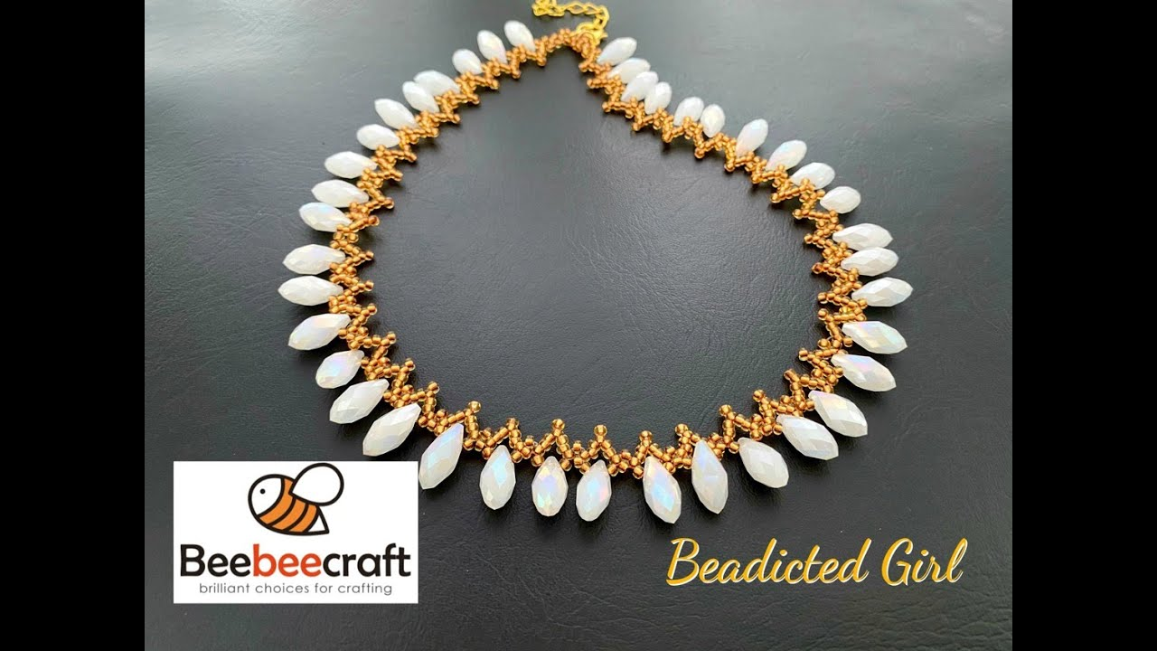Beebeecraft Tutorial || Beaded Necklace ||  $5 Coupon code Beadicted5