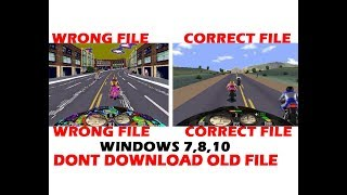 ROADRASH GAME FOR WINDOWS 7,8,10 | FIXED GRAPHICS PROBLEM | DOWNLOAD MY SETUP FILE FOR ROADRASH