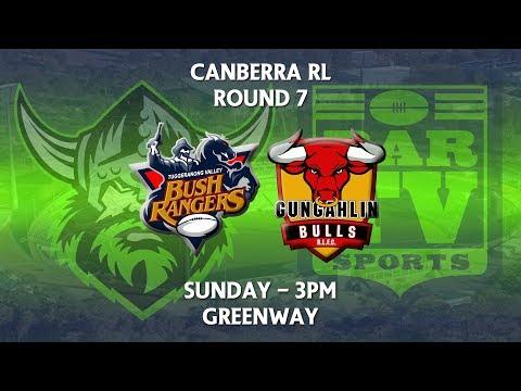 2018 Canberra RL 1st Grade Round 7 - Gungahlin Bulls v Tuggeranong Bushrangers