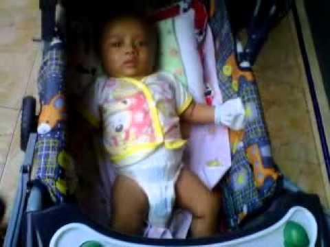 my baby # Zaidan ,Lagi seneng banget di kereta dorong bayi