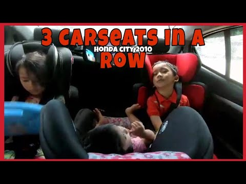3 Carseats In A Row - Honda City 2010