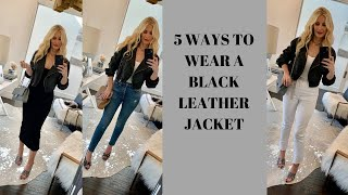 5 Ways to Wear a Black Leather…