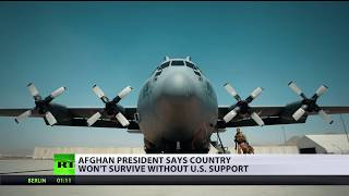 Afghan president says country won