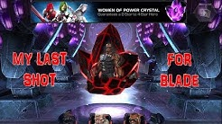MARVEL CONTEST OF CHAMPIONS: Crystal Opening - Last Try For Blade | Women of Power Crystals