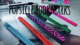 DIY Cute  popsicle bookmarks || bookmark designs || how to make a bookmark|| diy bookmark ||