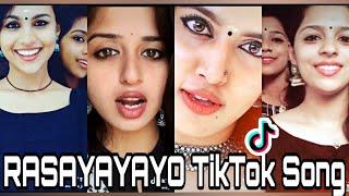 Viral and trending videos of tiktokers on latest malayalam folk rasayayayo song . share n subscribe