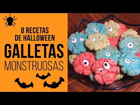 Galletas Monstruosas tipo Crinkle para Halloween