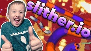 7 Year Old Adan Plays Slither.io