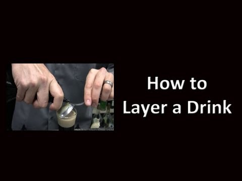 How to Layer a Cocktail Drink Shot