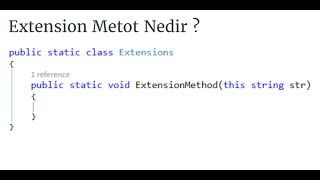 C# Fundamentals - Extension Method Nedir ?