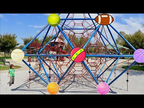 Thumbnail: Learn Colors of Different Balls at the Park - Toddlers Playing and Learning Colors at the Playground