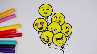 Как нарисовать смайлики. Рисование смайлов. How to draw emoji smiles