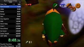 The Legend of Zelda Ocarina of Time 100% Speedrun