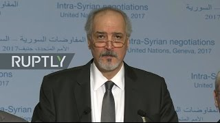 LIVE  New round of Syria peace talks in Geneva   Statement by Syrian govt  reps