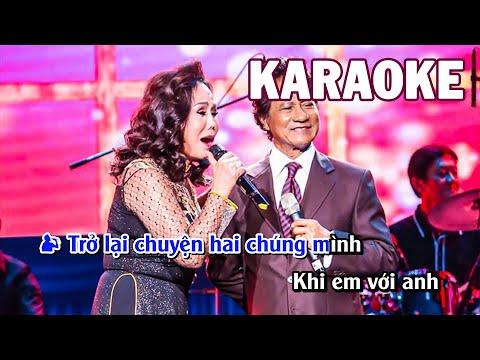 Karaoke   Con Đường Mang Tên Em - Chế Linh & Thanh Tuyền   Tone Song Ca Nam Nữ
