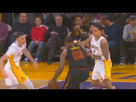 LeBron James Bullies Lonzo Ball & Kyle Kuzma!