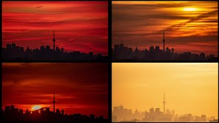 Magical mornings of Toronto! It was so colorful n dramatic from the beginning till the end. #short