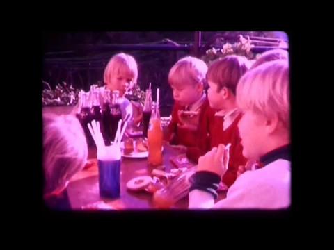 1971   Kids party,  Au pairs