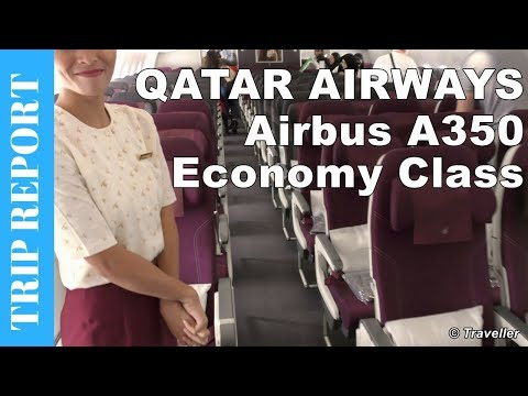 QATAR AIRWAYS ECONOMY CLASS flight to Singapore - Airbus A350 Trip Report - Long Haul Flight