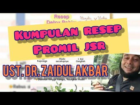 KUMPULAN PROMIL JSR | RESEP DETOX RAHIM (Source By Dr. Zaidul Akbar)