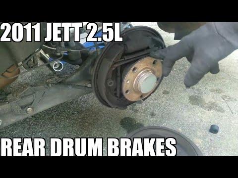 How to Change Rear Drum Brakes on a Volkswagen Jetta 2006-2011.