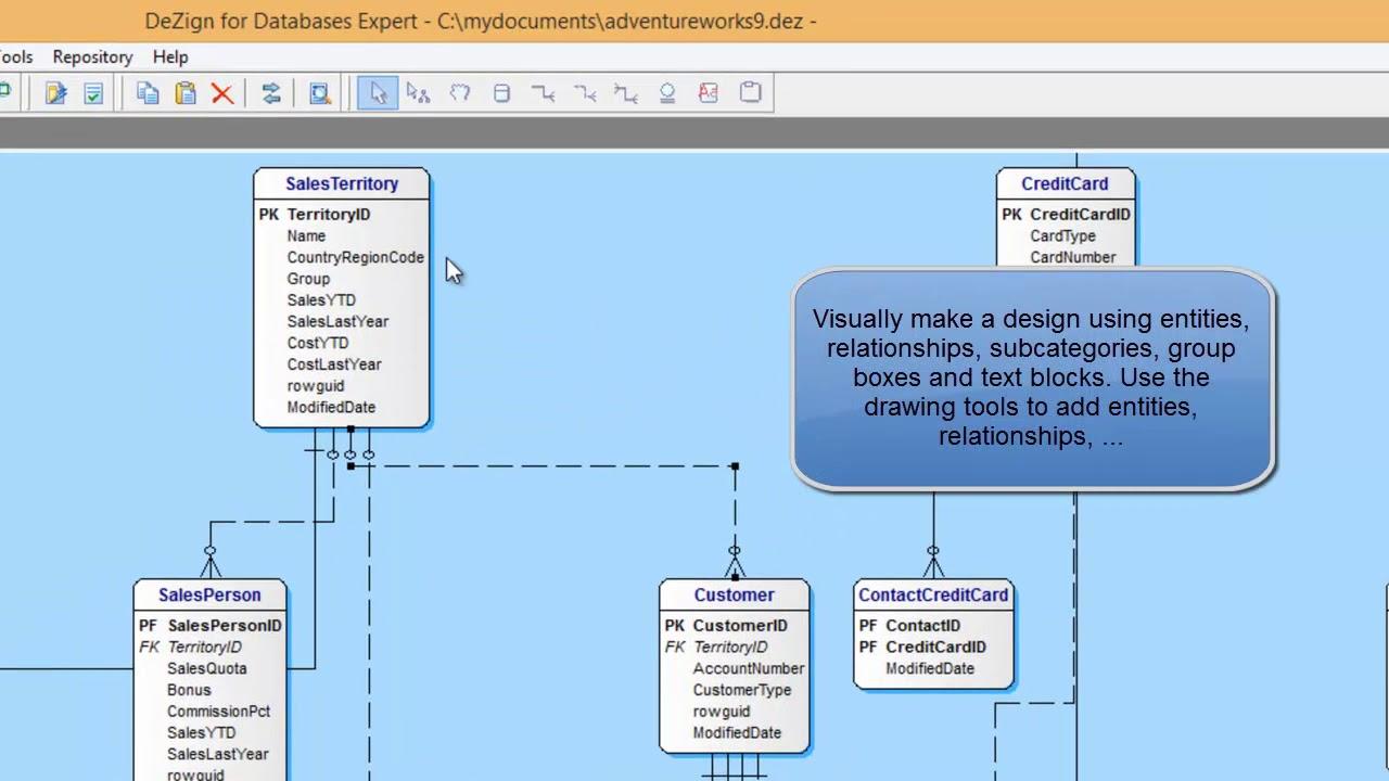 DeZign for Databases Demonstration (Data Modeling) - YouTube