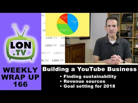 Weekly Wrapup 166 - Building a YouTube Business: Revenue update, goals, and overall health