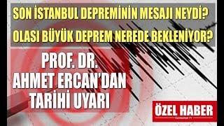 Korkutan İstanbul depremini Prof. Dr. Ahmet Ercan yorumladı. Büyük İstanbul depremini tetikler mi?
