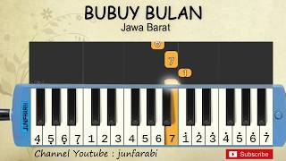 not pianika bubuy bulan - lagu daerah / nusantara / tradisional indonesia - not angka