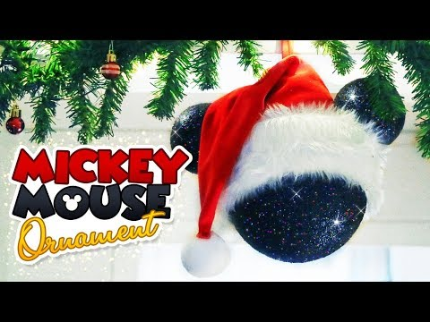 DIY Oversize Mickey Mouse Santa Ornament Ft. CraftStash // Christmas 2018