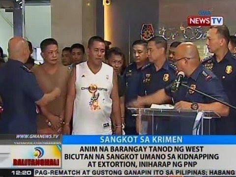 BT: 6 na barangay tanod ng West Bicutan na sangkot umano sa kidnapping at extortion, iniharap ng PNP