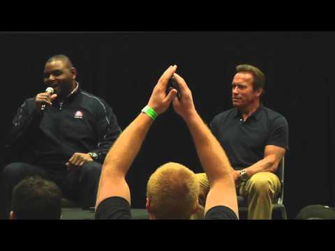 Orlando Pace and Arnold Schwarzenegger Inspire in Game for Life Chalk Talk