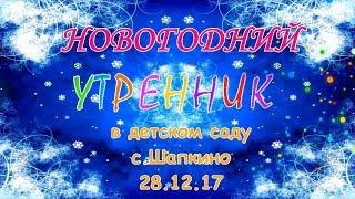 Новогодний утренник в детском саду с.Шапкино (28.12.17)