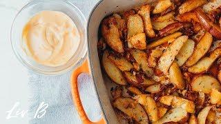 Garlic Roasted Potatoes (vegan)