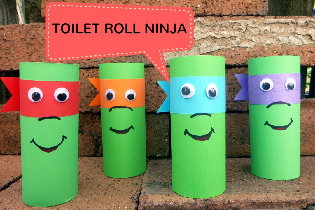 how to make a toilet roll ninja toilet paper roll crafts