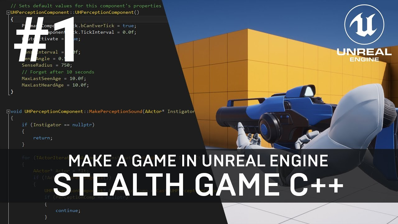Unreal Engine C++ Tutorial - Stealth Game Multiplayer AI (Part 1/26)